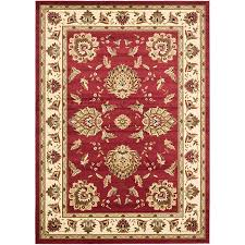safavieh lyndhurst sultanabad red ivory indoor oriental area rug common 7 x 9