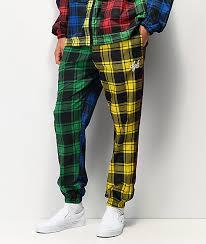 Pajama Jeans Size Chart Dgk Plaid Mismatch Pajama Pants