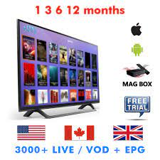 Iptv America USA UK Canada Adult 1 3 6 12 months Iptv Subscription Life  time For Android Box Ios Devices Mag Box Trial Set-top Boxes