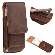 details about vertical leather belt pouch case cover wallet holster belt clip for cell phone