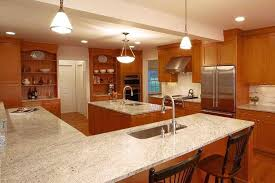 oak cabinets with granite counters