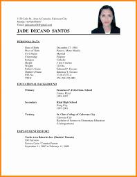Resume Format For Applying Job Abroad New Samples Canada Atchafalaya