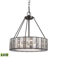 ethan 3 light led chandelier in tiffany bronze