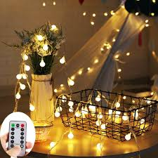 Battery Light Globe Zoutog Battery Operated String Lights 33ft 10m 100 Led Bulb Warm White Globe String Lights With Remote Controller Decorative Timer Fairy Light For