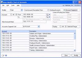 Great Plains Chart Of Accounts Table Making It Easier With Dynamics Gp Quickly Modify Your