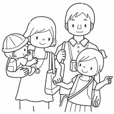 family coloring page perfect joint family coloring pages family