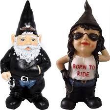 bikie girl garden gnomes