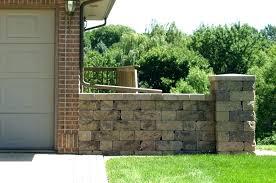 home depot landscape block tan stone concrete