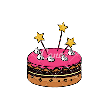 Birthday Cake Sketch Icons By Canva