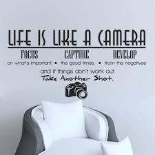 60 Life Is Like A Camera Living Room Decoration Pvc Wall Decals Quotes Wall  Stickers Quotes And Quotes Stickers For Wall Decor Stupendous Life Is Like  A ...