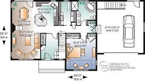 House plan W detail from DrummondHousePlans com    st level bedroom scandinavian chalet style    living rooms  double garage