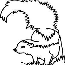 Small Picture Skunk Laughing Coloring Page Color Luna
