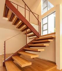 ... Wooden floating stairs work well within most modern homes