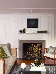 after sweet and simple fireplace white paneling around fireplace and mantel