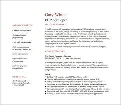 Php Programmer Resume Do 5 Things