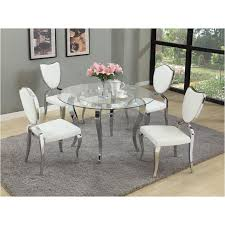 creative decoration round glass dining room table set letty gl48 t chintaly imports furniture letty dining