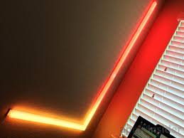 lighting beams. Despite The Singular In Its Name, Beam Kit Actually Includes Six Beams, As Well A Corner Piece, Power Adapter, And Controller Unit. Lighting Beams