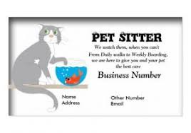 Pet Sitter Business Cards Pet Sitting Business Card Templates Pet Care Business Cards Business