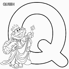 Small Picture ABC letter Q Queen Sesame Street Zoe coloring page