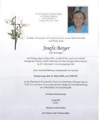 Wir trauern um Josefa Berger! - Marktgemeinde Frankenfels