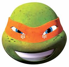 ninja turtles michelangelo face. Michelangelo Teenage Mutant Ninja Turtle 2014 Single Card Mask In Turtles Face