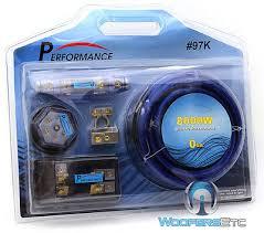 pkg stinger spc505 digital 5 farad capacitor 8000w 0 gauge pkg stinger spc505 digital 5 farad capacitor 8000w 0 gauge amplifier wire kit 7