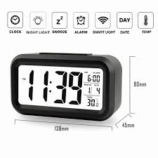 children s night clock alarm clock with dimmer powered by 3aaa batteries controllable backlight with