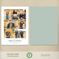Happy Holiday Card Templates 5x7 Holiday Card Template Christmas Card Template Happy Holidays Collage Photo Collage Multiple Photos Clean Simple H73