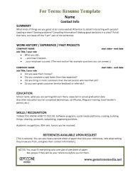 teenage resume template getessay biz teenage resume template