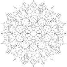 Flower Coloring Pages Coloring Mandalas Coloring Pages Adult Flower