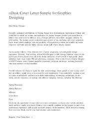 How To Design A Cover Letter Graphic Design Cover Letter Senior