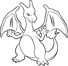 wealth mega charizard x coloring page 8781 pokemon