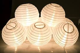 Paper lighting Event Ki Store Lantern String Lights Set Of 10 Extendable Plugin Oriental Style Lanterns With Lights For Weddings Parties Bedroom Decoration plain White Paper Lanterns Paper Lantern String Lights Shop Paper Lantern String Lights Online