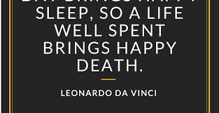 Leonardo Da Vinci Quotes Classy Leonardo Da Vinci Quote On Death Shameless Pride