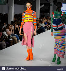 Northumbria University Fashion Design London Uk 6 June 2018 A Model Presents A Look By Penny