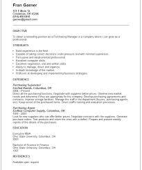 Procurement Resume Format Top Procurement Executive Resume Samples