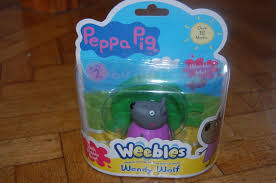 PEPPA PIG WEEBLES WENDY WOLF FIGURE WITH BASE NEW TOY | #1736323564