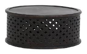 bagru coffee tablein distressed black