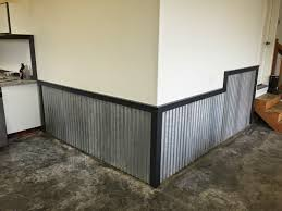 corrugated tin chair rail design ideas