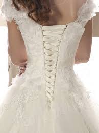 Lace Up Corset Wedding Dress