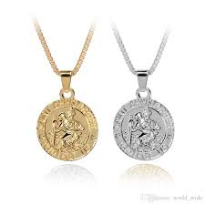 whole st christopher pendant saint protect us necklace saint christopher pendant religious jewelry gift with box chain small pendant necklace