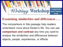 examining similarities and differences from reading to writing  3 examining similarities