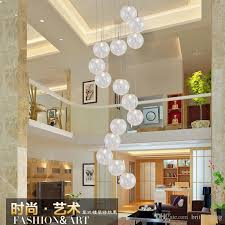 chandelier modern minimalist stairs bedroom creative personality restaurant bubble aluminum ball clothing pendant lamps mall lights modern lighting