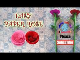 Rose Flower With Paper Easy Paper Craft Rose How To Make Paper Rose Origami Easy Flower