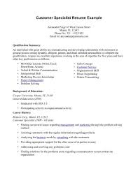 Resume Csr Qualifications Resume For Study