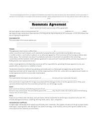 Agreement In Word Impressive Roommate Rules Template Askyou