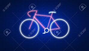 Bike Neon Lights Stock Illustration