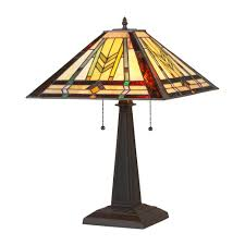 chloe lighting nathan tiffany style mission 2 light table lamp view larger