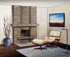 fireplace contemporary stone fireplaces