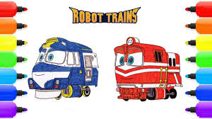 Robot Train Coloring Pages Robot Train Kay Alf Robot Train